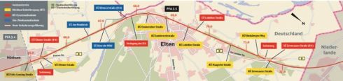 Kaart DB Netze Emmerich